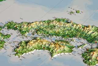中四国地方地図