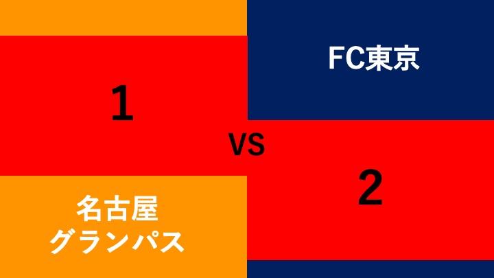 名古屋グランパス対FC東京結果