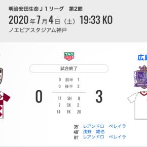 0対3で神戸に勝利。でも、まだまだ進化できるはず <br>0-3 win over Kobe. But I'm sure we can still evolve.